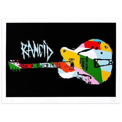Nine Color Guitar by Tim Armstrong | Archive | Poster Child Prints
