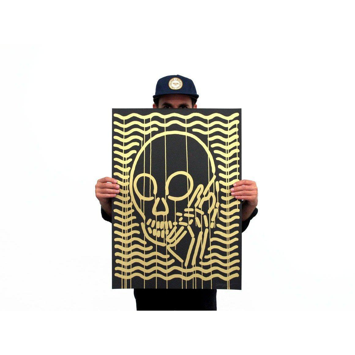 MOP Gold on Black by Skullphone | Archive | Poster Child Prints