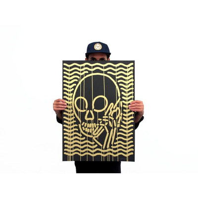 MOP Gold On Black, Skullphone | Poster Child Prints