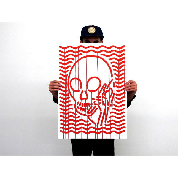 Skullphone | Poster Child Prints | MOP Red