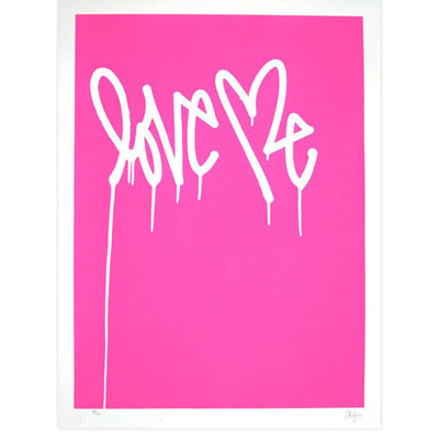 Love Me, Fluorescent Pink - Archive, Curtis Kulig | Poster Child Prints