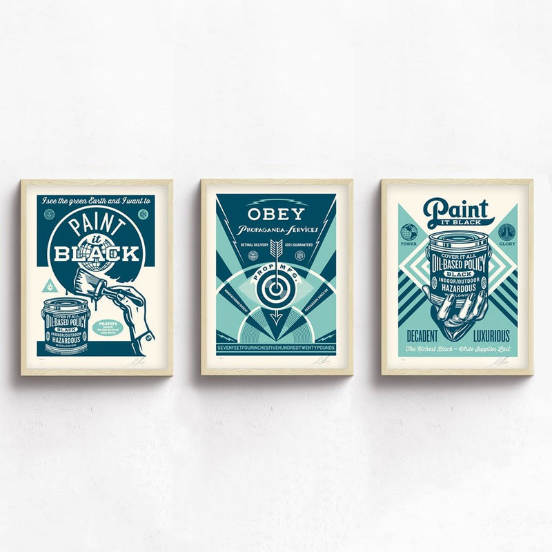 OBEY Paint It Black Series by Shepard Fairey | Archive | Poster Child Prints