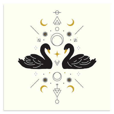 Swan Magic is a newPrint by Rebecca Reitz | Poster Child Prints