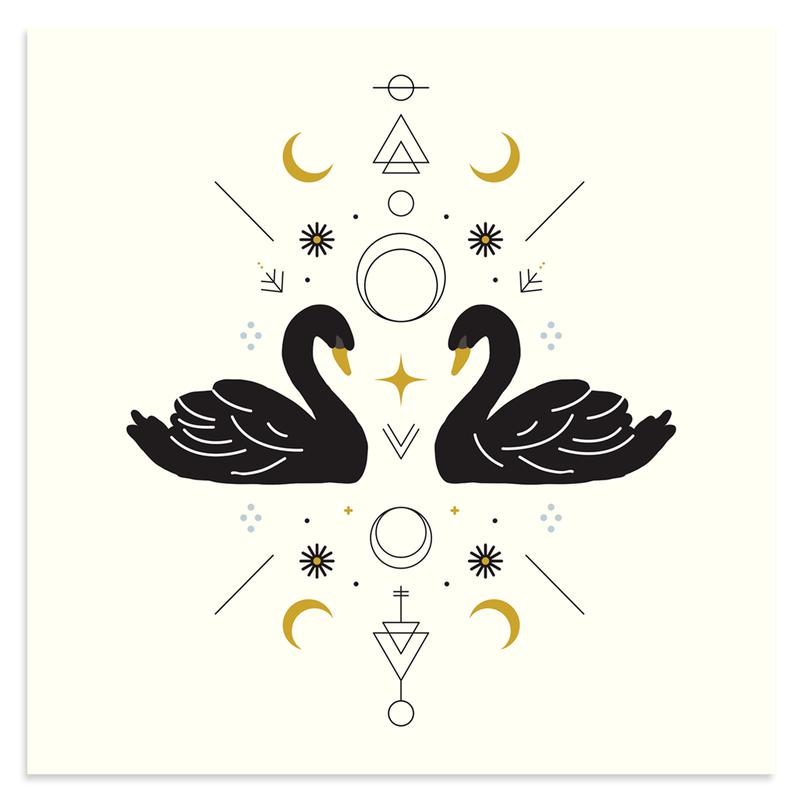 Swan Magic by Rebecca Reitz | Print | Poster Child Prints