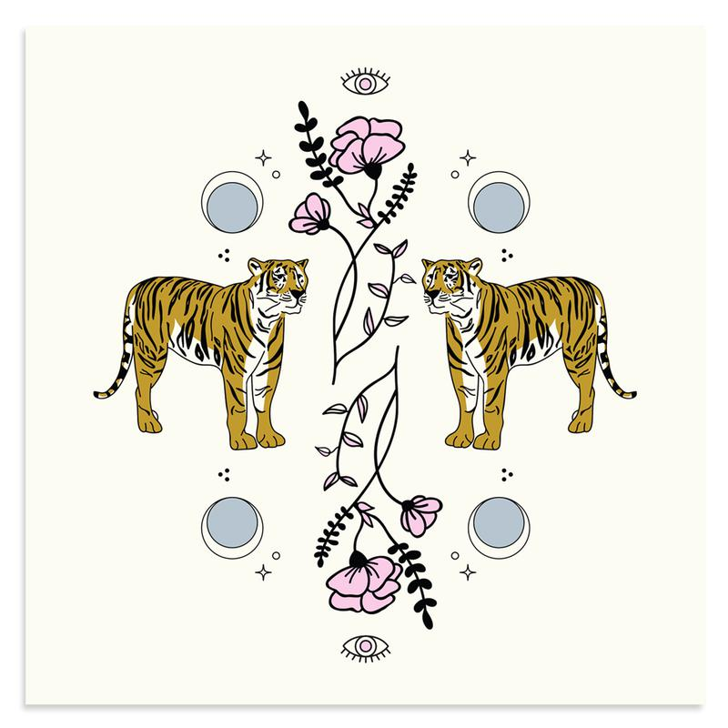 Tiger Charm by Rebecca Reitz-Print-Poster Child Prints