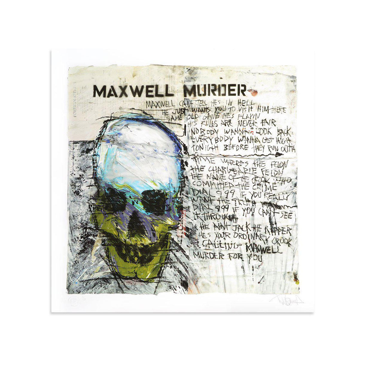 Maxwell Murder by Tim Armstrong | Archive | Poster Child Prints