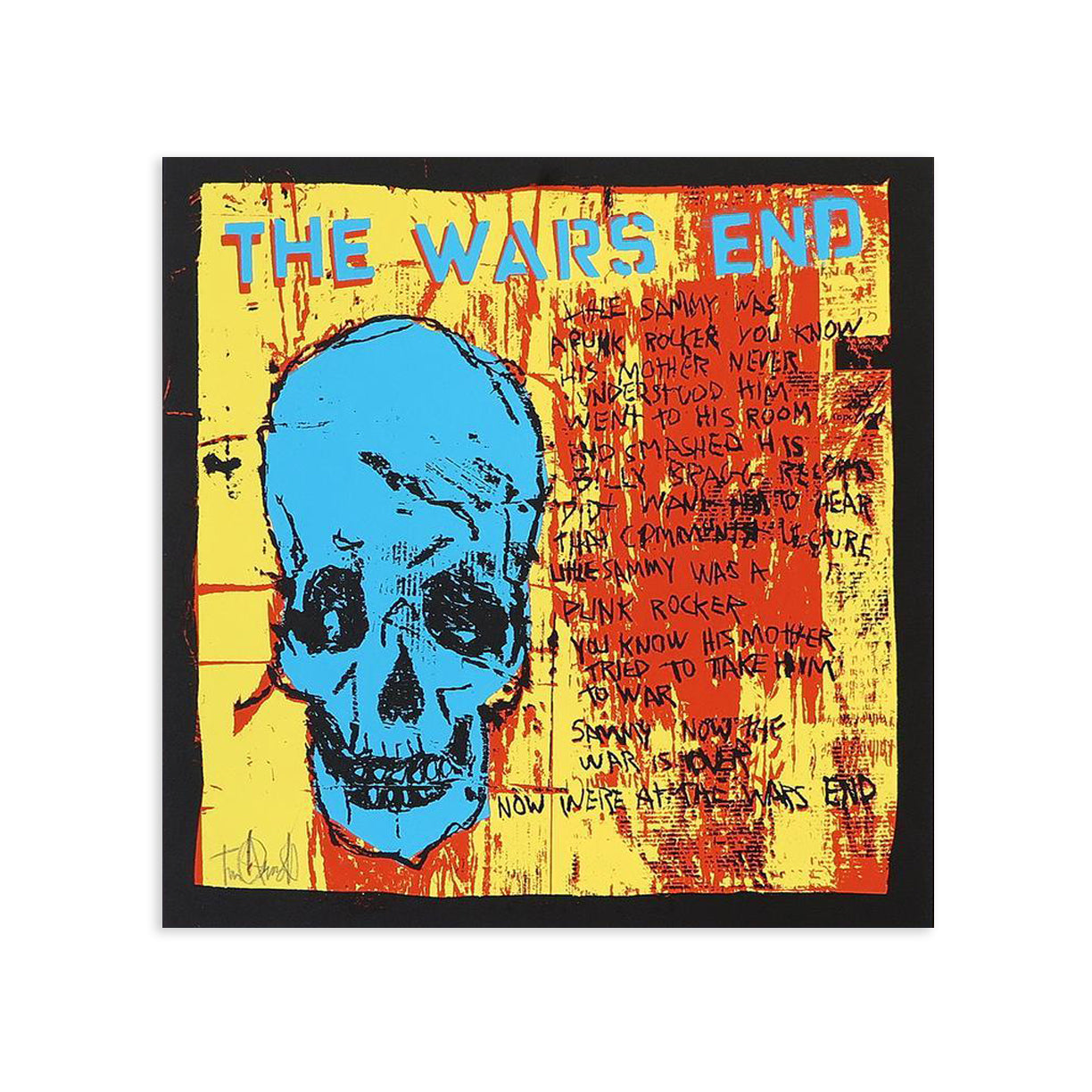 The Wars End, Blue Skull by Tim Armstrong | Archive | Poster Child Prints