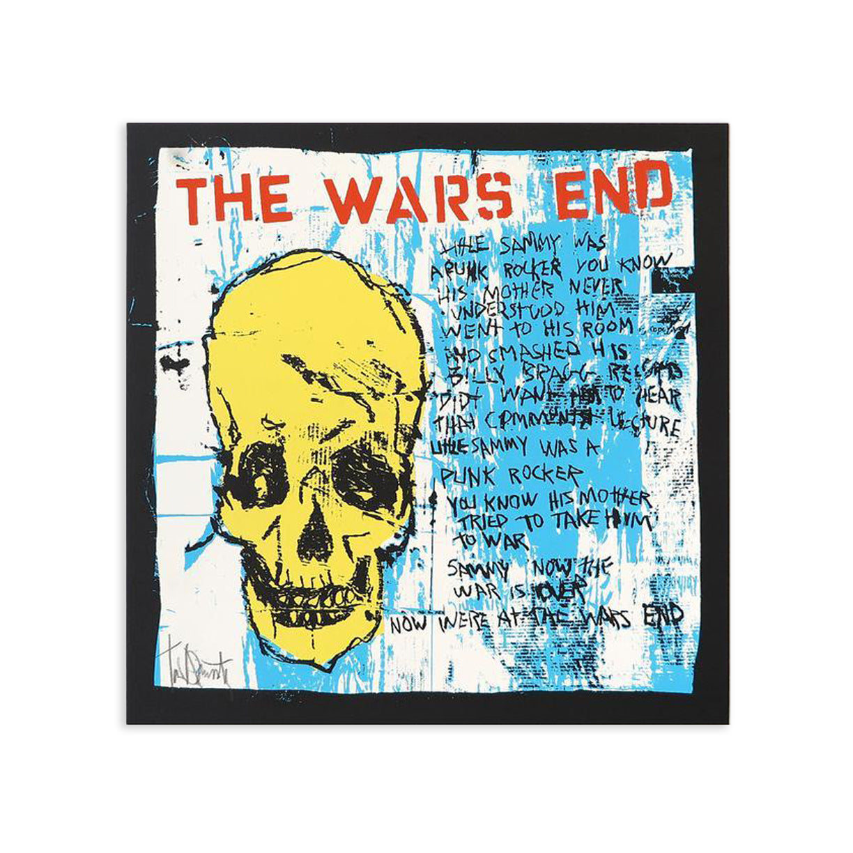 The Wars End, Yellow Skull by Tim Armstrong | Archive | Poster Child Prints