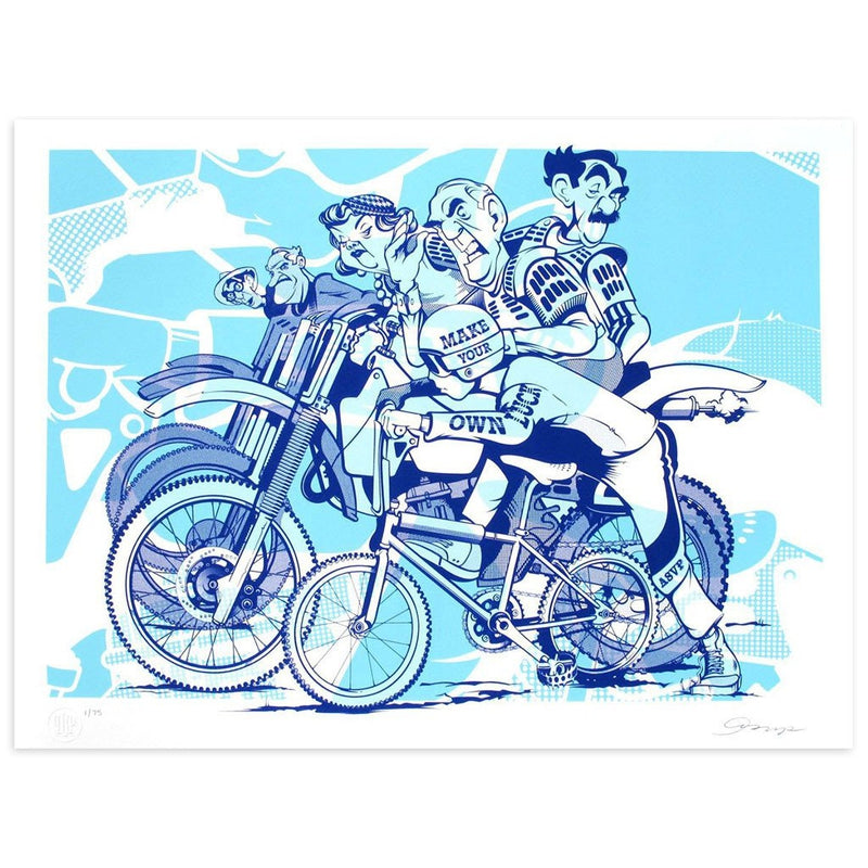 make your own luck asvp art motorbike poster child prints