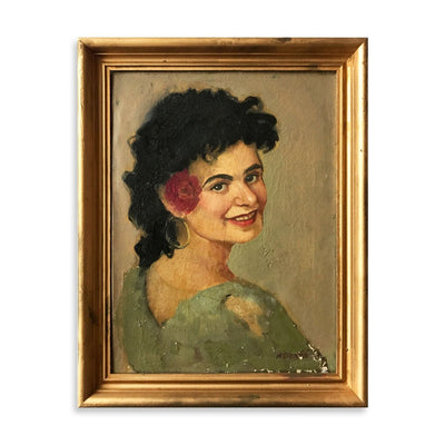 Portrait of Smiling Woman, Found Art | Poster Child Prints