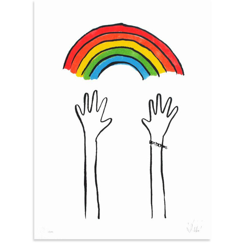 Reaching Rainbows by Dallas Clayton-Print-Poster Child Prints