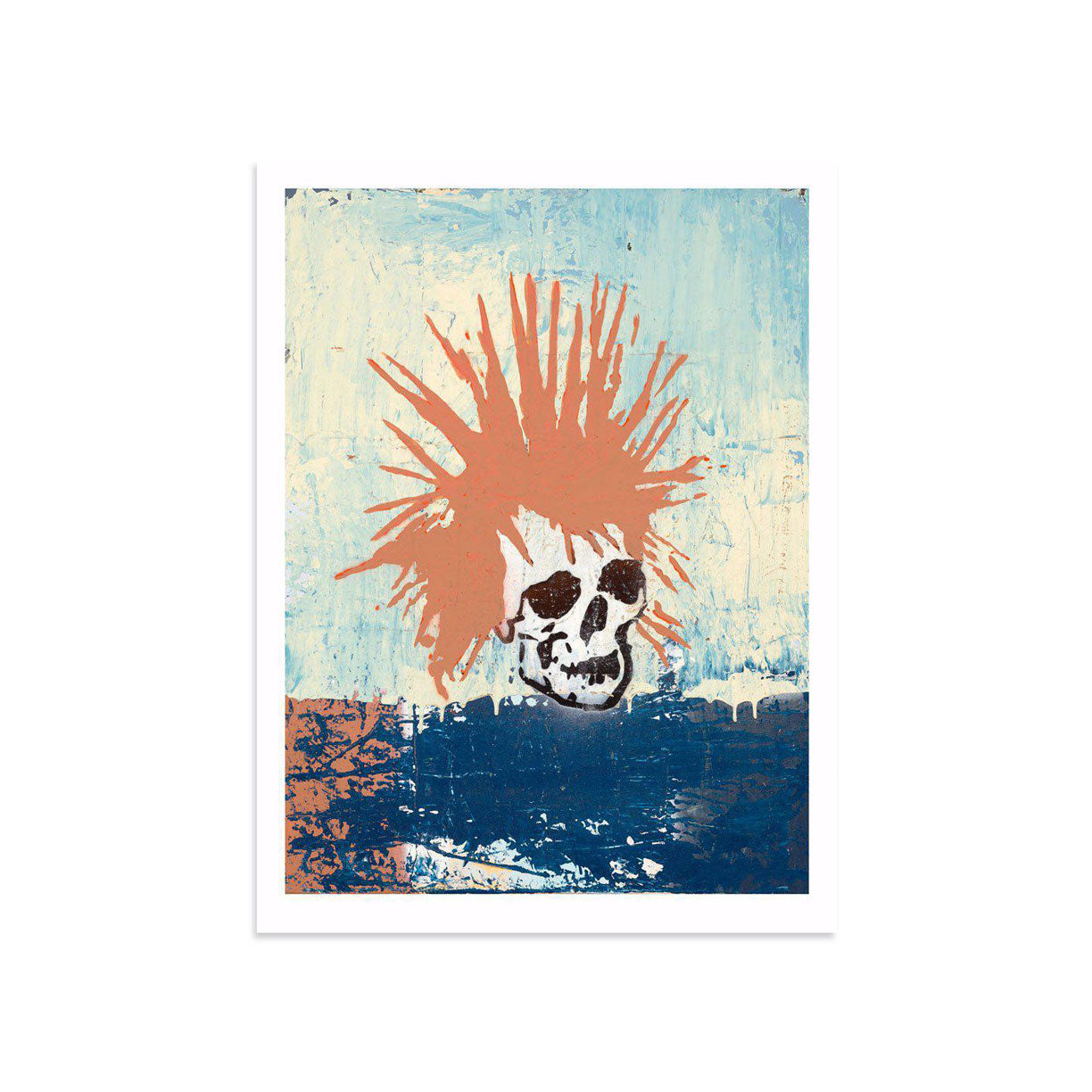 Red Punk Rock Skull