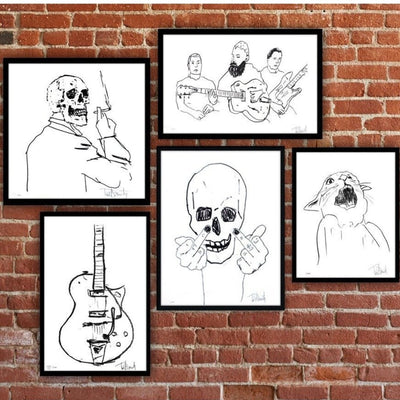 Skullman Flip Off - Archive, Tim Armstrong | Poster Child Prints