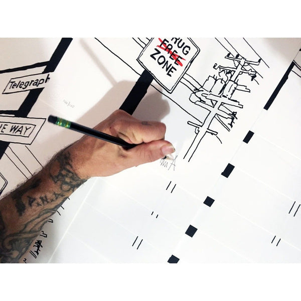 Tim Armstrong | Durant and Telegraph ave | Drug Zone | Sketch Series