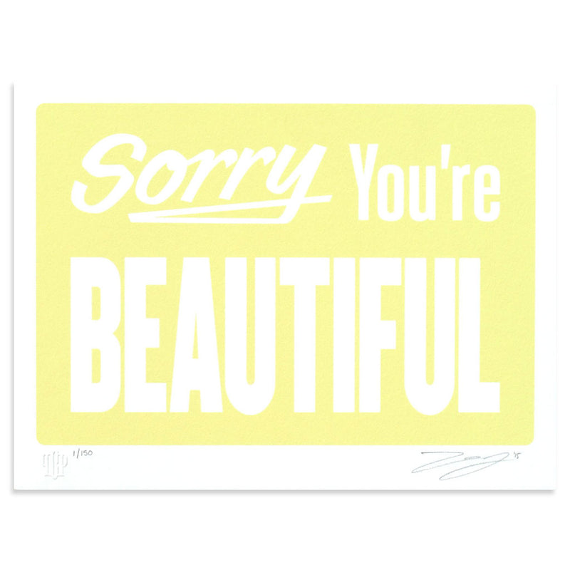 Sorry Your're Beautiful - Pastel Yellow