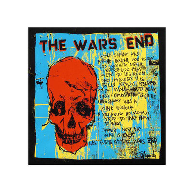 The Wars End (Red Skull) by Tim Armstrong-Archive-Poster Child Prints