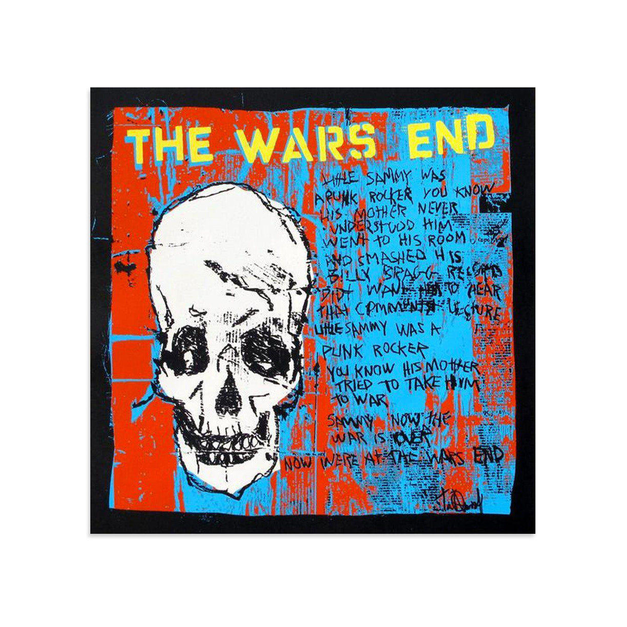 The Wars End, White Skull by Tim Armstrong | Archive | Poster Child Prints