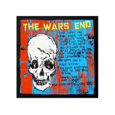 The Wars End (White Skull) by Tim Armstrong-Archive-Poster Child Prints