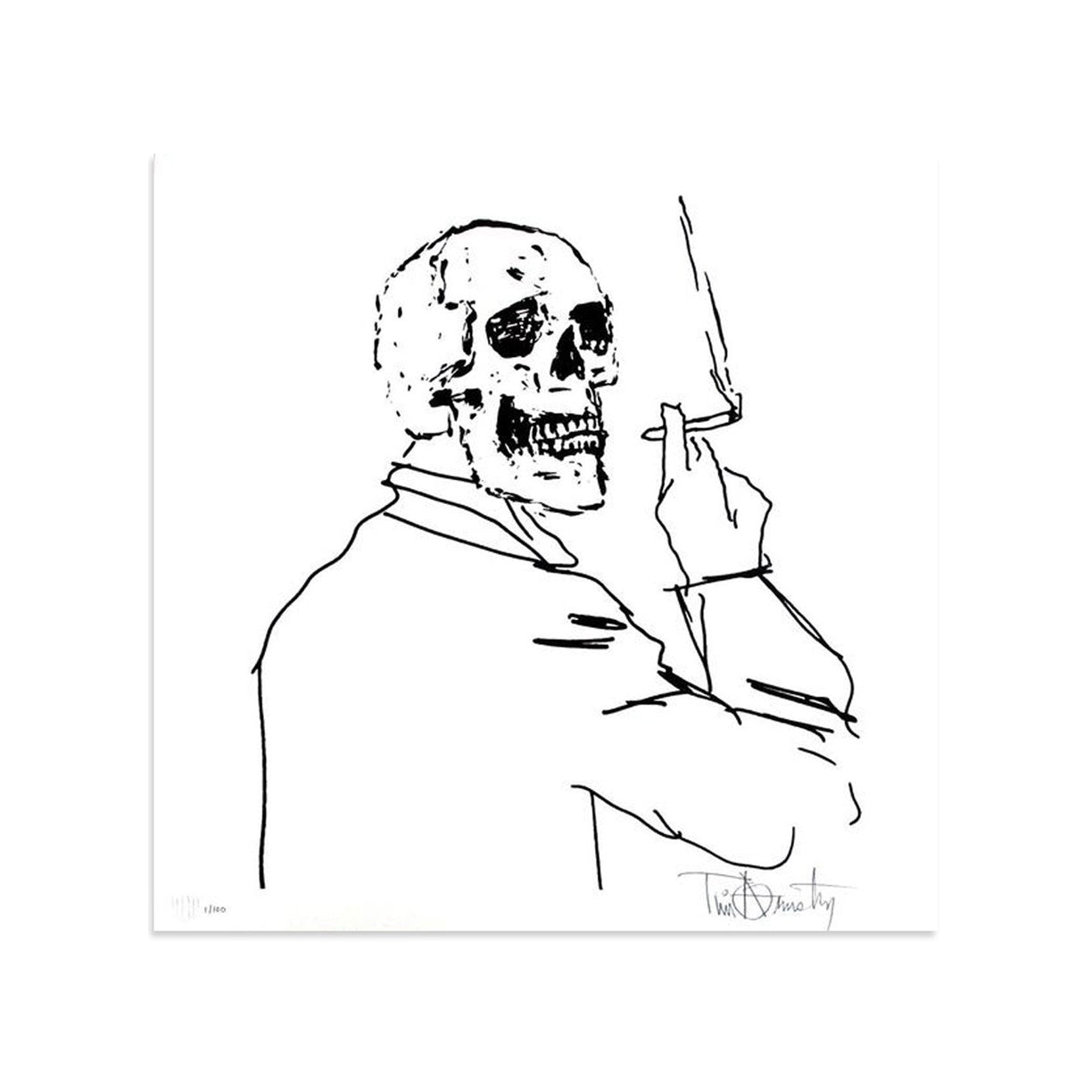 Skullman Smoking by Tim Armstrong | Archive | Poster Child Prints