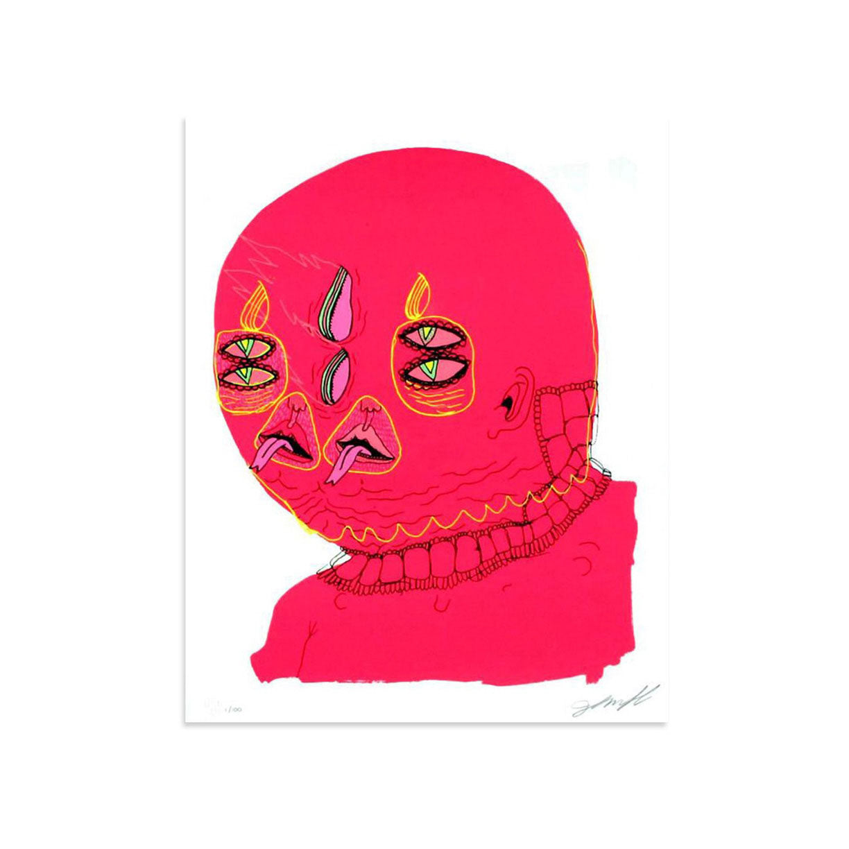 Untitled (Pink Head) by John Gourley | Archive | Poster Child Prints