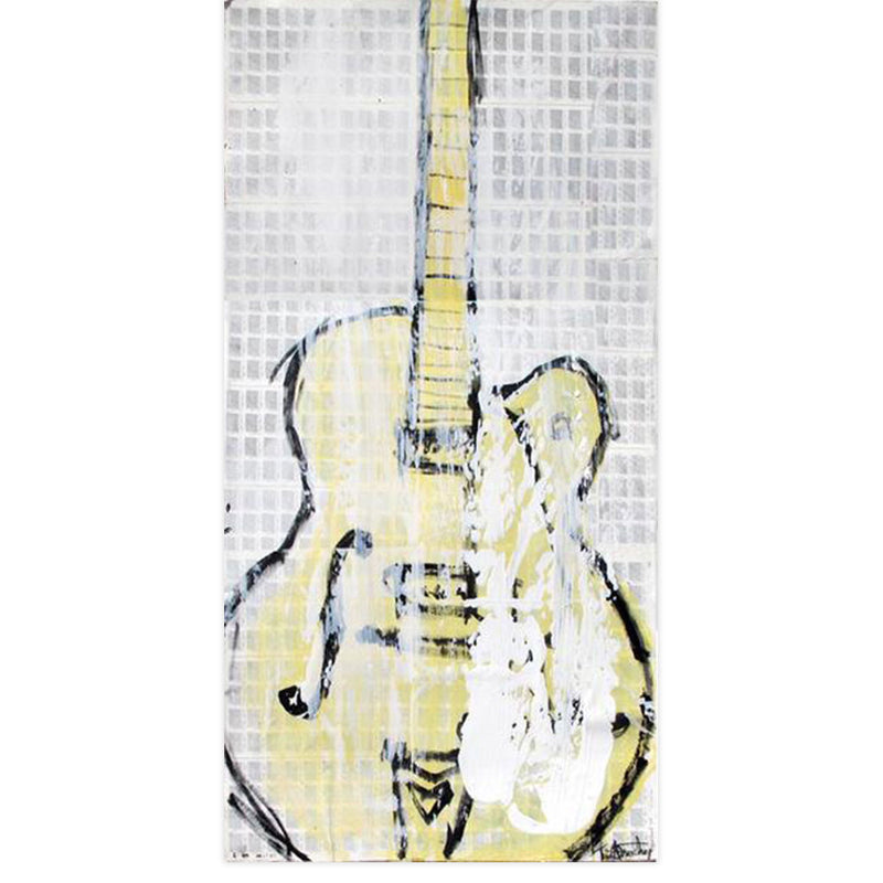 Yellow Gretsch by Tim Armstrong | Original Artwork | Poster Child Prints