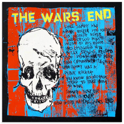 The Wars End (White Skull) - Archive, Tim Armstrong | Poster Child Prints