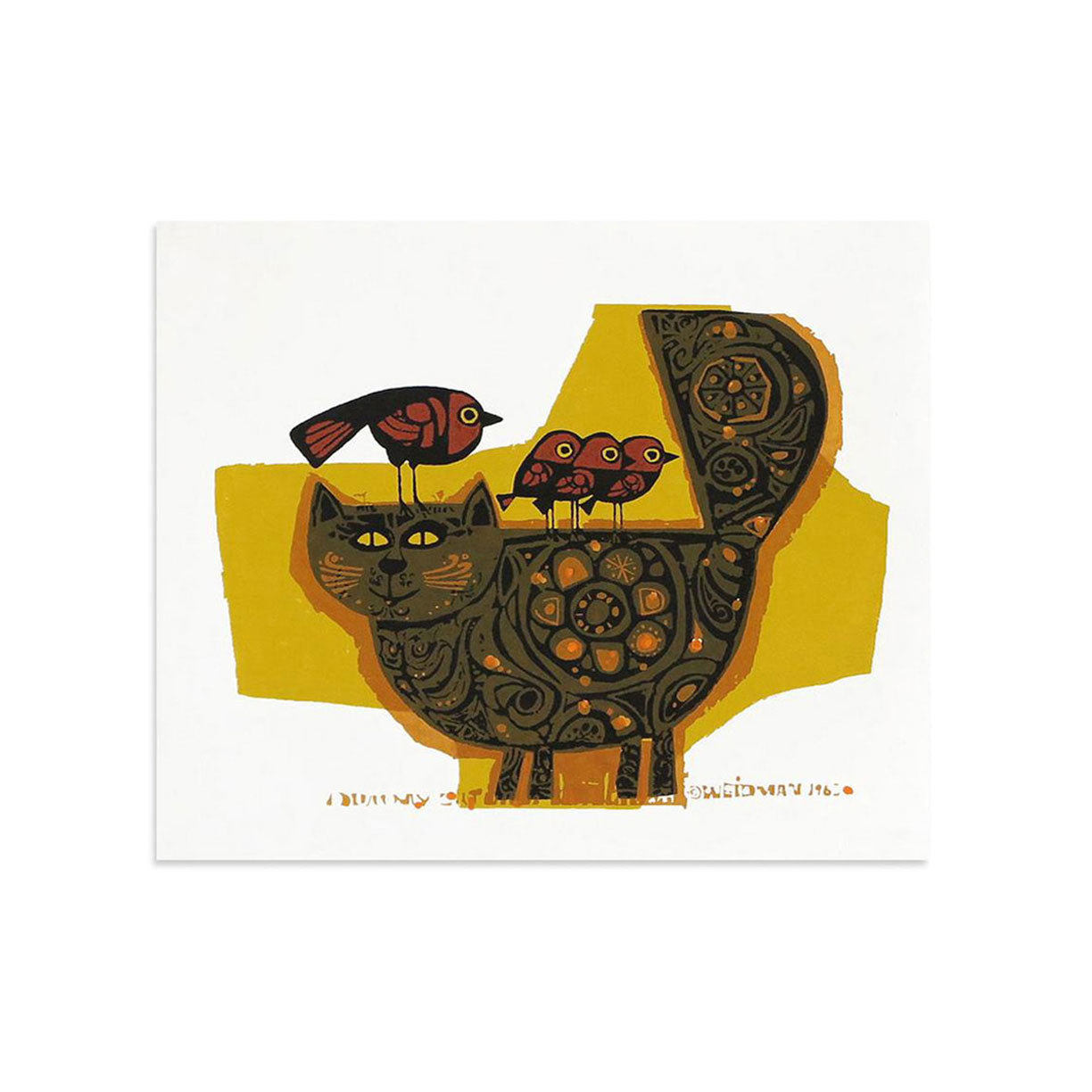 Dummy Cat, mini by David Weidman | Print | Poster Child Prints