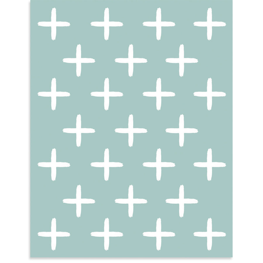 White Crosses by PCP Collection-Print-Poster Child Prints