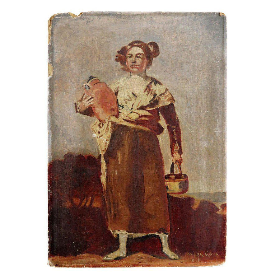 Woman with Jug, Found Art | Poster Child Prints