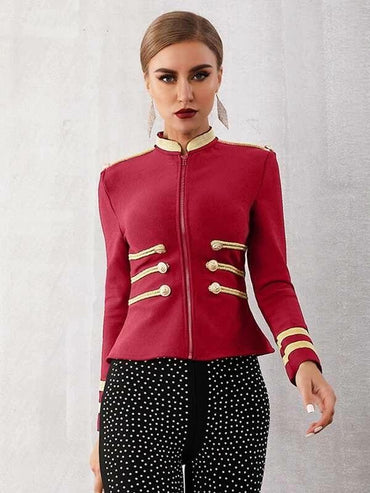 Adyce Double Button Rope Detail Sailor Jacket