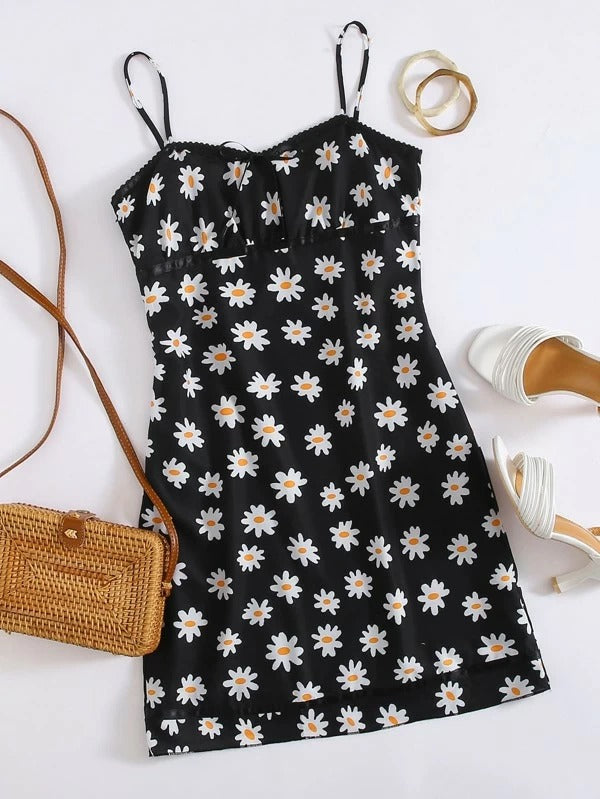 Women All Over Floral Print Cami Dress