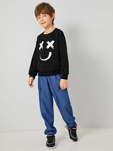 Boys Cartoon Graphic Pullover