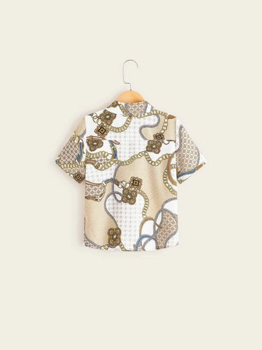 Boys Chain Print Shirt