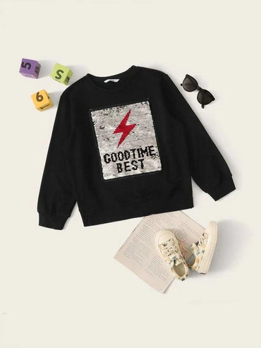 Boys Change Color Sequin Pullover