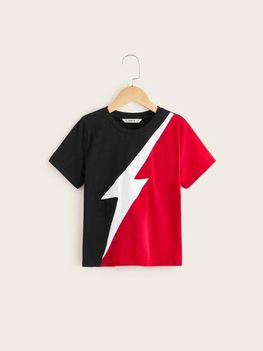 Boys Color-Block Lighting Tee