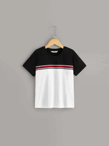 Boys Colorblock Striped Top