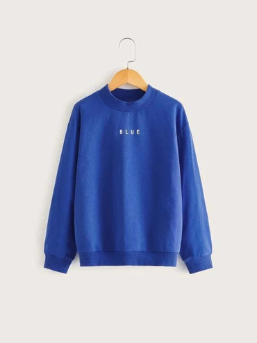 Boys Drop Shoulder Letter Graphic Pullover