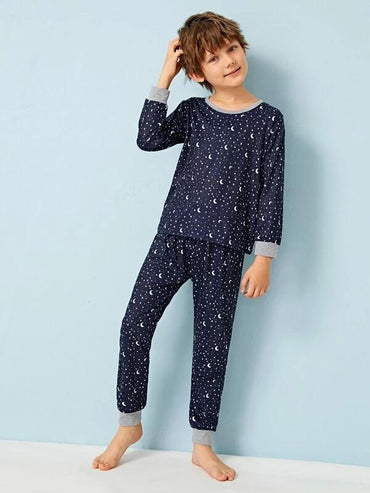 Boys Galaxy Print PJ Set