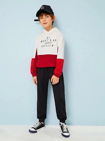 Boys Letter Graphic Sweatpants