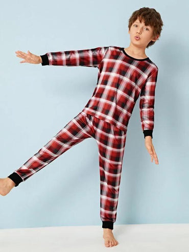 Boys Plaid PJ Set