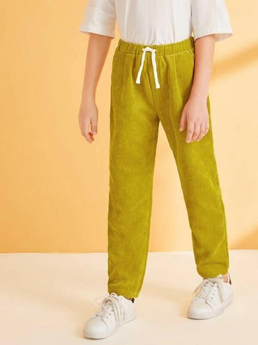 Boys Slant Pocket Corduroy Pants