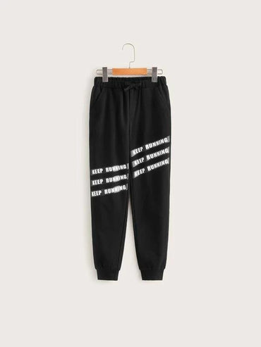 Boys Slogan Graphic Sweatpants