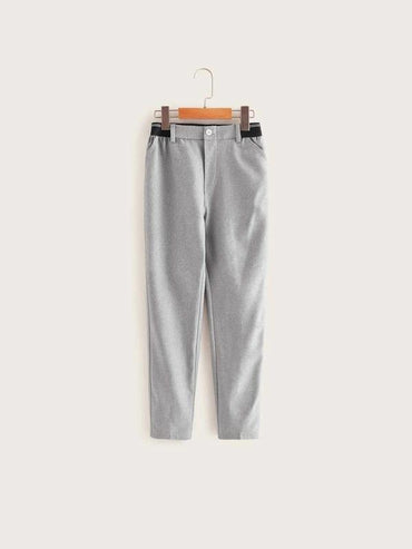 Boys Striped Elastic Waist Pants