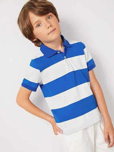 Boys Two Tone Polo Shirt