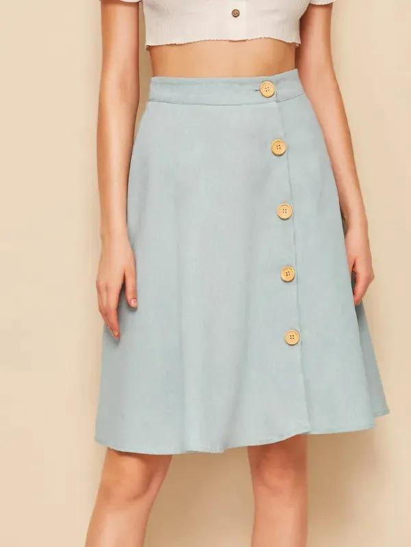 Button Up Circle Skirt