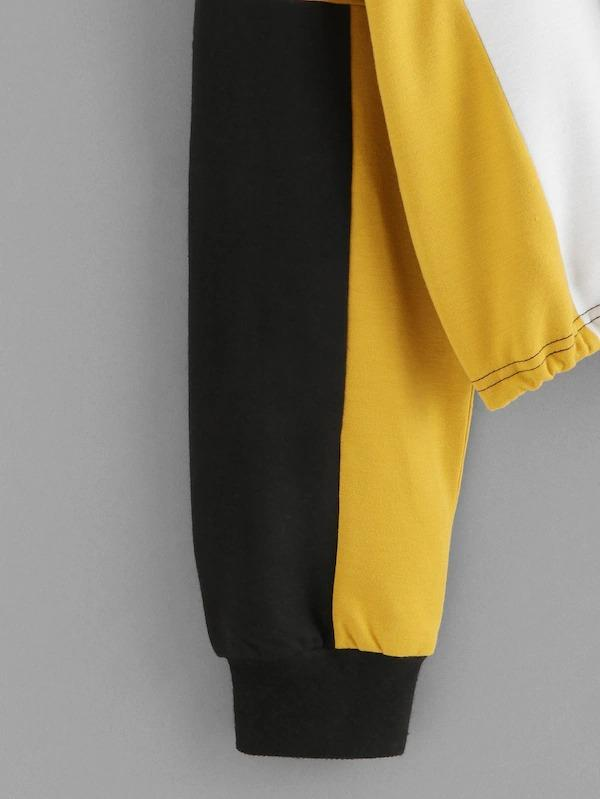 Color-Block Zip Up Sweatshirt