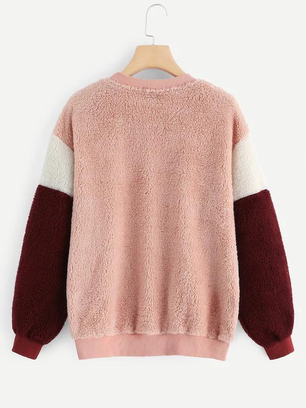 Cut-And-Sew Teddy Pullover