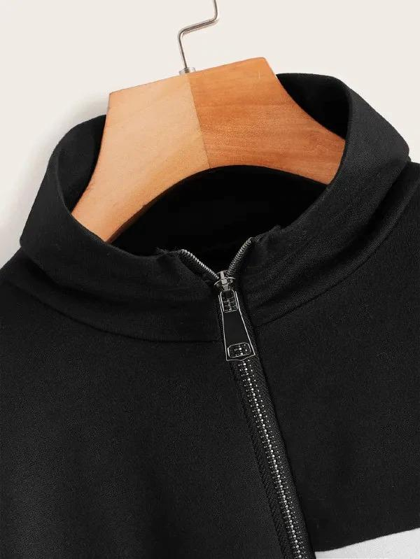 Cut And Sew Zip Up Sweatshirt