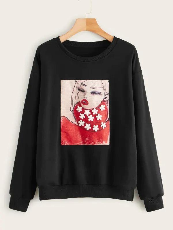 Figure Patched Sweatshirt