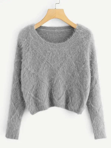 Fuzzy Crop Sweater